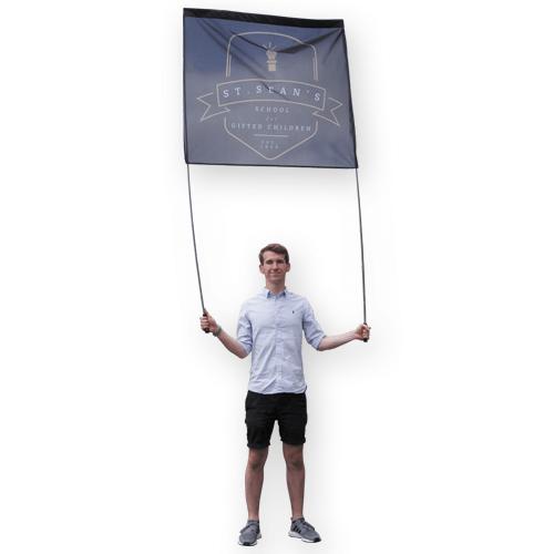 1 person parade banner