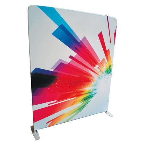 Fabric Exhibition Stand Up : Straight fabric exhibition stand m high m wide ink on