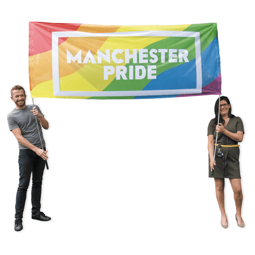 2 person parade flag