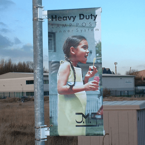 Heavy Duty Lamp Post Banner