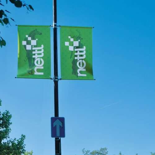 lamp post banner