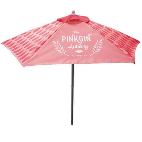 Branded Parasol | 2m high x 1.8m Diameter | Outdoor Use ...