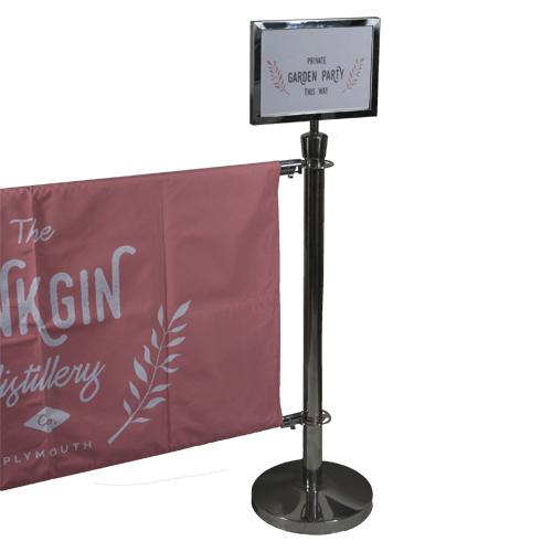 Cafe Banner Pole