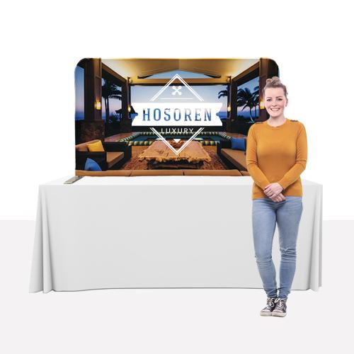 Straight tabletop display